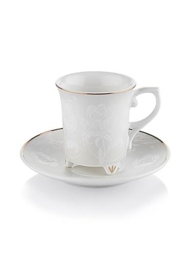 Schafer Pia Kahve Fincan Takımı-Beyaz Beyaz